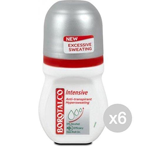 Set 6 BOROTALCO Deodorante Roll-On Intensive Ipersudore Cura E Igiene Del Corpo