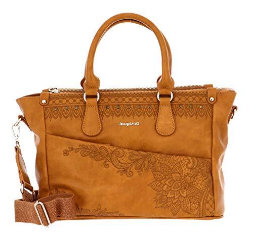 Desigual Accessories PU Hand Bag, Borsa a Mano. Donna, Giallo, U