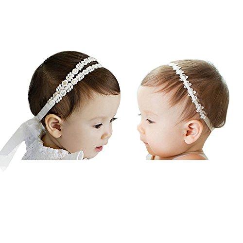2 Pezzi di Fascia Capelli Cerchietti e Fasce per Capelli Bambina Neonata