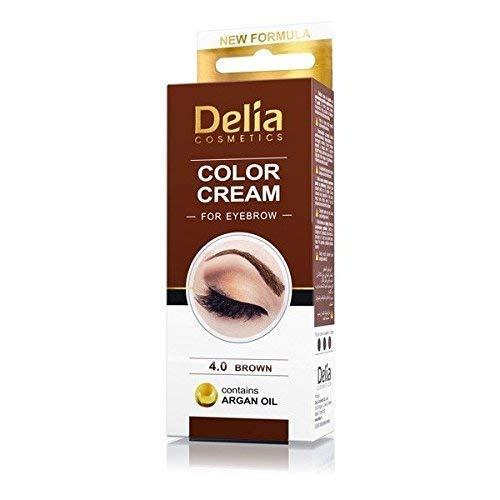 DELIA HENNA COLOR CREAM EYEBROW PROFESSIONAL 4.0 BROWN