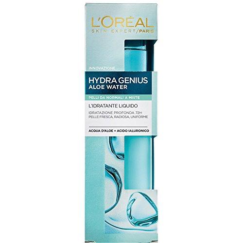 L'Oréal Paris Trattamenti HydraGenius Crema Viso Idratante Liquido Giorno, Pelli da Normali a Miste, 70 ml