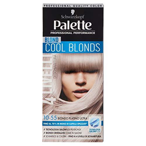 Schwarzkopf, Palette Cool Blonds, Colorazione Permanente con Tecnologia SalonPlex, 10-55 Cool Blonds Biondo Platino