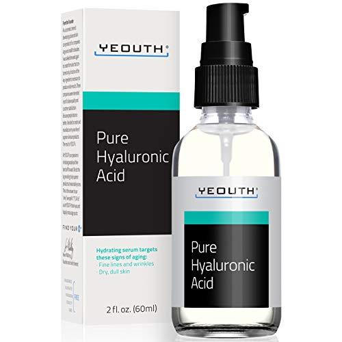 Siero Viso all'Acido Ialuronico puro di YEOUTH - 100% Formula Puro Anti Invecchiamento! (2oz)
