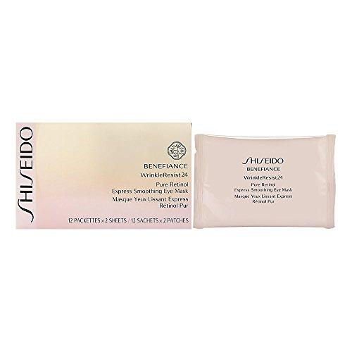 Shiseido Benefiance WrinkleResist24 Retinolo puro, Maschera Occhi, confezione da 12 e 2 fogli