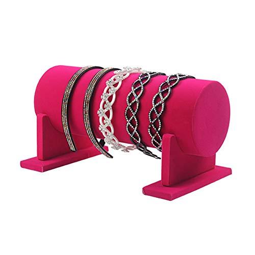 LAMF, Espositore per gioielli smontabile, organizer per cerchietti e fermagli per capelli, barra a T in velluto, supporto per catenine, bracciali, collane