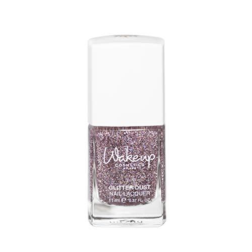 Wakeup Cosmetics Milano Smalto per unghie glitterato Glitter Dust, 02 Celebration Pink - 11 ml