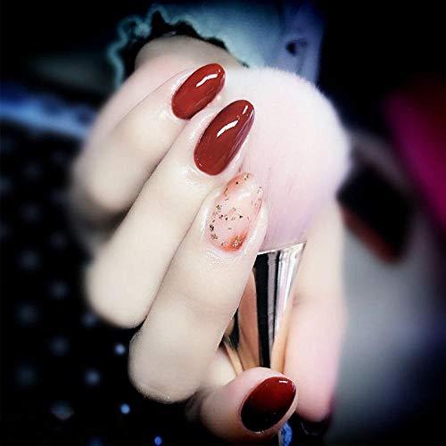 YFLDK Unghie finte Set di manicure per unghie finte Set di smalto per unghie per fototerapia staccabile per donne in gravidanza