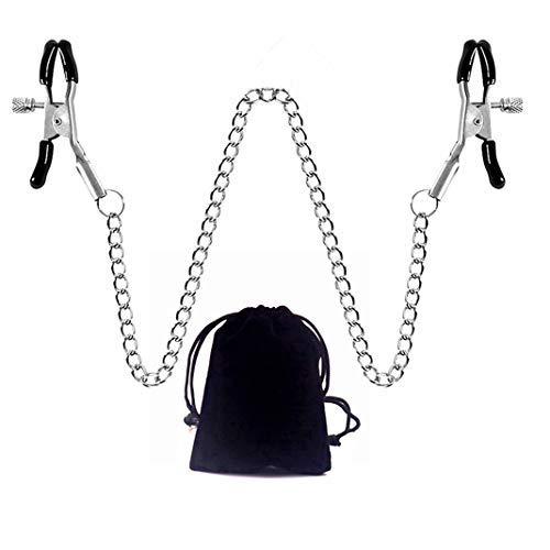 Catena del corpo con clip regolabile, collana da donna con morsetto a catena per intrattenimento, accessori per abbigliamento con borsa di stoccaggio