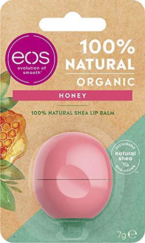 Eos Organic Honey - Balsamo idratante per labbra con miele delicato, 7 g