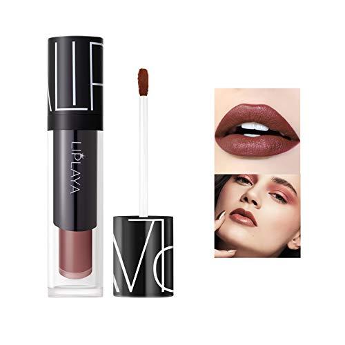 Mimore Moist Lipstick Trucco professionale Rossetto liquido per labbra, Tazza antiaderente impermeabile Colori sexy Rossetto Idratante Levigante, Lunga durata 24h Idratante Impermeabile (106)