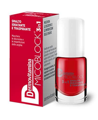 Dermovitamina Micoblock Smalto Idratante E Traspirante Rosso - 5 Ml