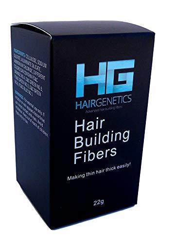 Hair Genetics Fibre Capillari Infoltimento Capelli - Densificante per Capelli contro Calvizie, Alopecia, Capelli Diradati e Fini – Ricostruzione Capelli Temporanea Per Uomo e Donna (Marrone scuro)