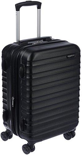Amazon Basics - Valigia Trolley rigido, 55 cm (utilizzabile come bagaglio a mano di dimensioni standard), Nero