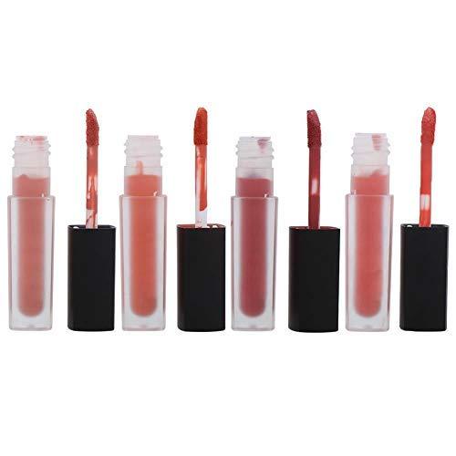 Set di lucidalabbra opaco a 4 pezzi, strumento cosmetico per il trucco delle labbra a lunga durata e non appiccicoso(B)