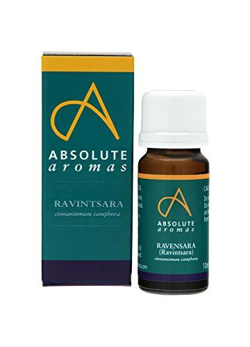 Absolute Aromas Olio Essenziale di Ravintsara 10 ml (cinnamomum camphora) - 100% Puro, naturale, non diluito, vegano e cruelty-free - per diffusori e aromaterapia