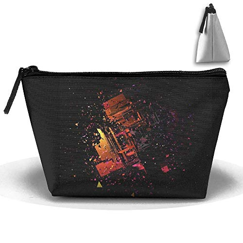 3D Colorful Decorativa Waterproof Trapezoidal Bag Cosmetic Bags Makeup Bag Large Travel Toiletry Pouch Portable Storage Pencil Holders