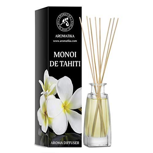Diffusore Aroma Monoi de Tahiti 100ml - Diffusore a Bastoncini - Fragranza Ambiente - Fragranza Ambiente - Deodorante - Diffusore Profumato Monoi de Tahiti - Idea Regalo - Profumo Tiarи