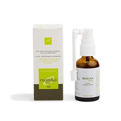Manuka Spray di OTI - Integratore Alimentare a Base di Miele di Manuka e Propoli - con Olio Essenziale al Timo - Flacone Spray da 30 ml. - Made in Italy