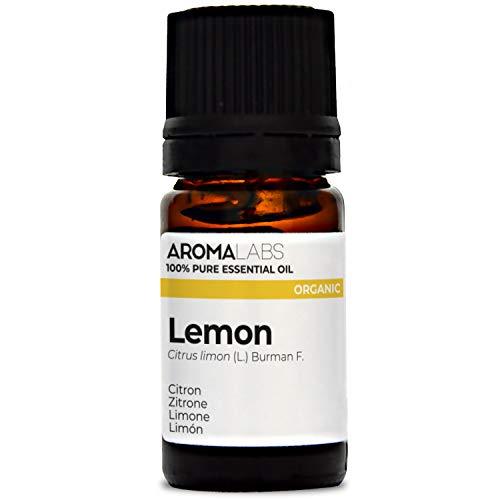 Aroma Labs Limone Bio - 5Ml - Olio Essenziale Bio E Naturale Al 100% - Qualità Verificata Mediante Cromatografia - Aroma Labs - 5 ml