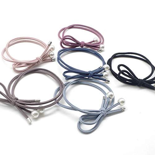 Corda Per Capelli, Perline In Metallo Con Corda Annodata, Anello Per Capelli Con Fiocco Su Un Lato, 30 Confezioni