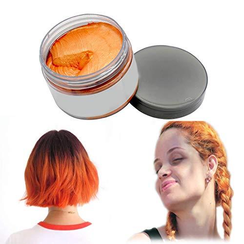 Cera colorante opaca temporanea per capelli, colore naturale per feste, cosplay, feste in maschera, discoteca, Halloween
