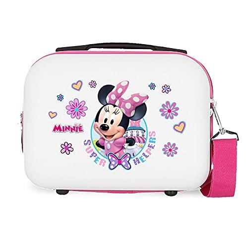 Disney Super Helpers Beauty Case Adattabile con Tracolla, 29 x 21 x 15 cm, Bianco