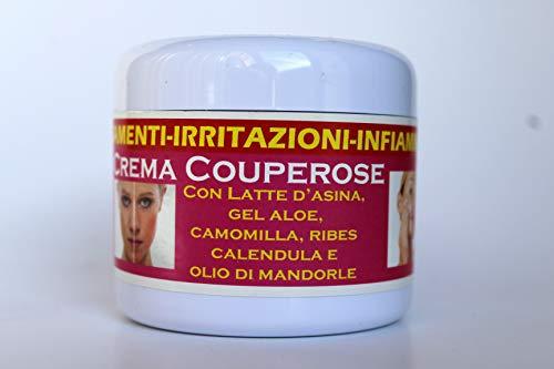 Smcosmetica Crema viso per arrossamenti e irritazioni, con latte d'asina, aloe, camomilla, calendula e olio di mandorle, 75 ml