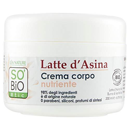So'Bio Étic, Mon lait d'Ânesse, Crema viso e corpo vellutante e nutriente, 200 ml