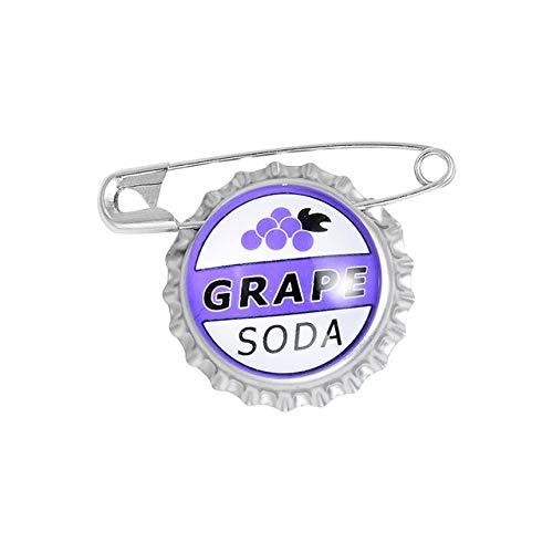 GIOIELLI Tappo di bottiglia Smalto Spille da bavero Grape Soda Spille Distintivi Moda Creatività Spille Regali per gli amici-2