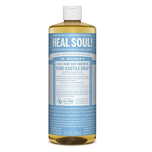 Dr. Bronner's Organic Baby - Sapone liquido Pure Castile non profumato
