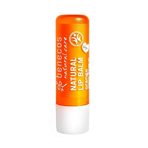 BENECOS Lip Balm Orange - Balsamo Labbra Idratante e Lenitivo - Labbra Secche e Screpolate - Gusto Arancio - Vegan - 4,80 gr