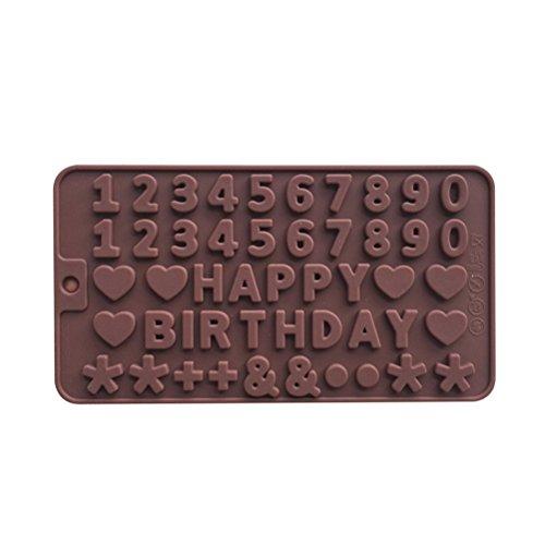 BESTOMZ Stampi per Il Cioccolato in Silicone Numeri Forma per Praline Gelatine Ghiaccio Caramelle Candele e Sapone