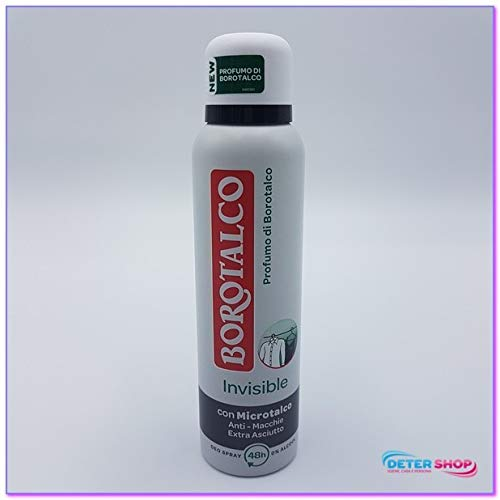 BOROTALCO DEODORANTE SPRAY CON MICROTALCO 0% ALCOOL INVISIBLE ORIGINAL 150ML.ANTI-MACCHIE EXTRA ASCIUTTO