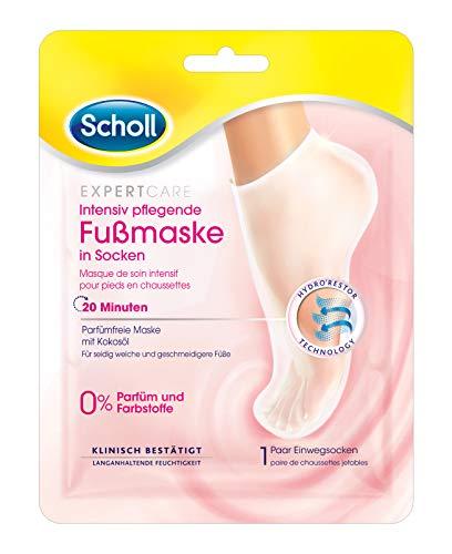 Scholl Expert Care Intensiv - Maschera per piedi in calze, 0% 1 paio