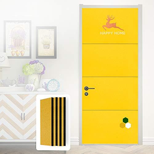 IDWOI Pannelli Fonoassorbenti, Spugna a Cellule Chiuse Pannello murale di Assorbimento Acustico Assorbimento del Rumore per Lo Studio (Color : Yellow, Size : 4pcs 100x50x2cm)