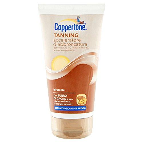 Coppertone Tanning Acceleratore d'Abbronzatura con Burro di Cacao - 150 ml