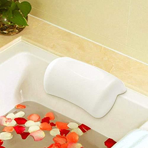 AnnSpa Cuscino di Bagno, Vasca da Bagno Accessori Bagno Morbido con Ventosa Forte per Rilassare Testa e Collo