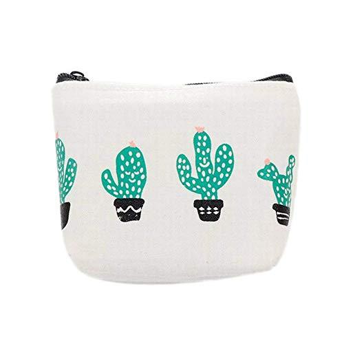 Da.Wa Cactus Sacchetto della Moneta Ragazza Sacchetto di Stampa Fresca Borsa Sveglia Sacchetto Chiave della Chiusura Lampo Matita immagazzinaggio del Regalo della cancelleria