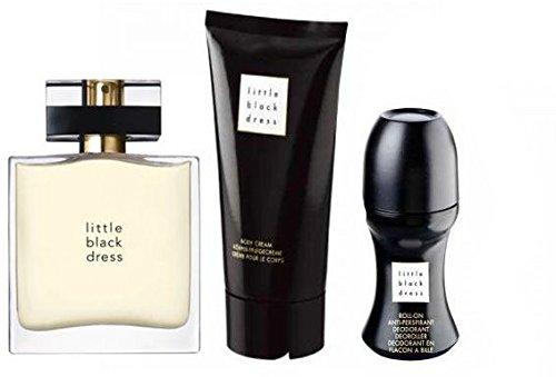 Avon Little Black Dress - Set di 3 profumi classici/eleganti Eau de Parfum Spray, lozione per il corpo