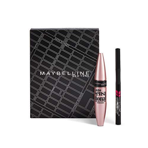 Maybelline New York Cofanetto Kit Occhi Ciglia Sensazionali, Include Mascara Ciglia Sensazionali Volumizzante e Eye-liner Hyper Precise