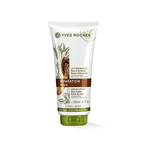 Yves Rocher - Latte repair con burro di karité biologico, 200 ml per la cura quotidiana della pelle molto secca