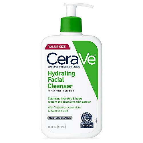 CeraVe Detergente idratante per il viso, 473 ml, per il lavaggio quotidiano del viso, per pelli da normali a grasse (16)