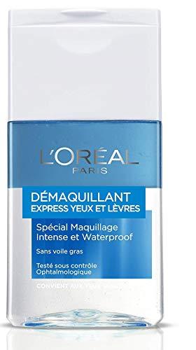 L'Oréal Paris - Latte detergente delicato, occhi e labbra, per trucco waterproof, 125 ml