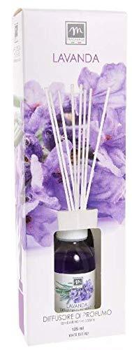 GIRM® - ME16453 Diffusore d'Essenza con Bastoncini in Cotone Aroma Lavanda ml 125