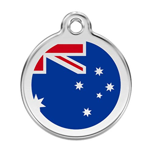 Reddingo smalto Pet ID tag, grande, bandiera Australia '