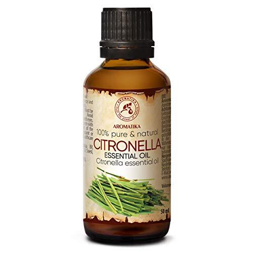 Olio Eessenziale di Citronella - 50ml - Cymbopogon Winterianus - Puro al Naturale - Aromaterapia - per Corpo - Diffusori - Relax - Aroma Lamp - Rilassamento
