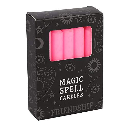 Zen Mini Candele magiche Incantesimo. Rosso, Viola, Verde, Bianco, Nero e Giallo. Durata: 1 Ora. Rituali e Cerimonie. Colour Magic. Rosa