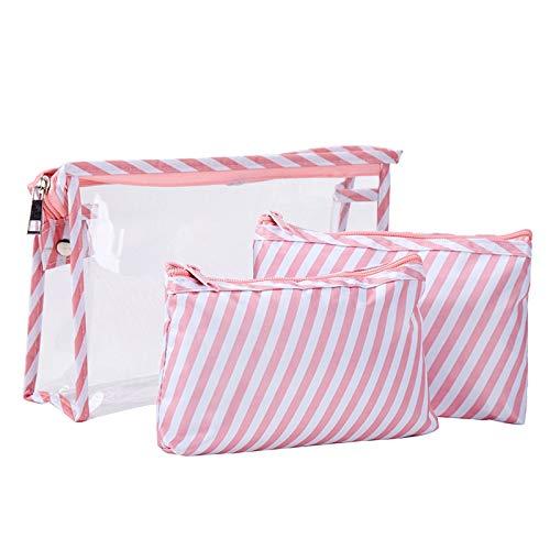 3 PcsFlamingo Cosmetic Bag Women Necessaire Make Up Bag Travel Waterproof Portable Makeup Bag Toiletry Kits PVC Style4
