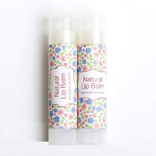 Wakehurst - Etichette adesive per balsamo labbra naturali, per contenitori cosmetici fatti a mano, tubi, adesivi per balsamo, 5 fogli (25pz)