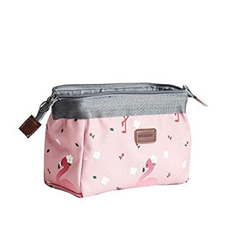 Animals Flamingo Fox Cosmetic Bag Women Necessaire Flower Make Up Bag Travel Waterproof Portable Makeup Bag Toiletry Kits D 18*19*13cm